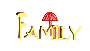 family可爱英文字体设计