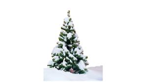 圣诞节雪花大树