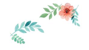 手绘小清新中国风花卉